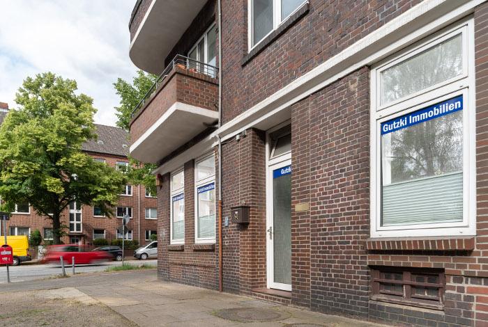 Außenansicht Büro der Hausverwaltung Gutzki Immobilien vom Hainbuchenweg